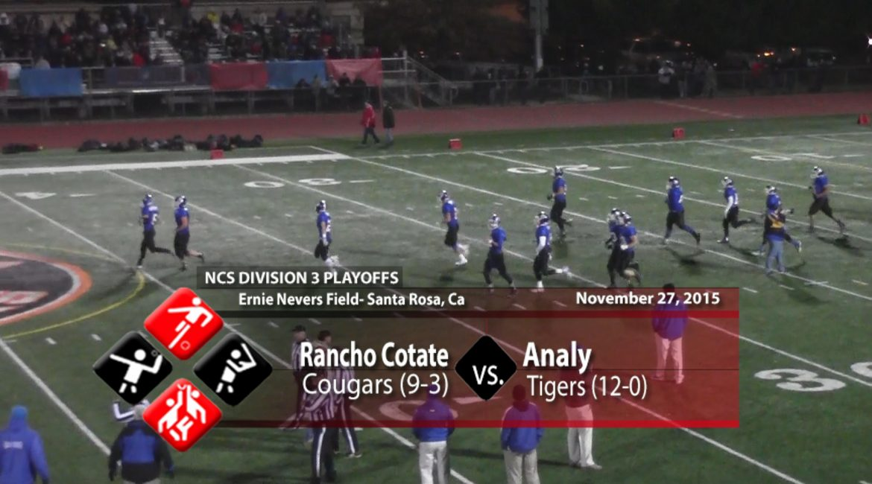 NCS D3 SEMI-FINALS- Rancho Cotate vs Analy 11-27-15