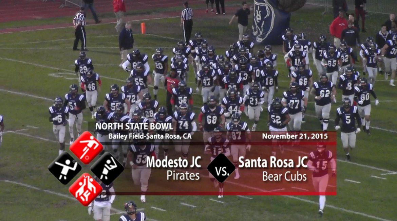 VIDEO: North State Bowl- Modesto JC vs Santa Rosa JC, 11-21-15