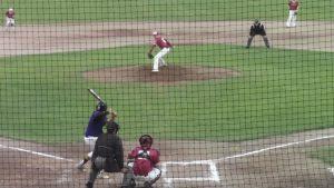 Nate Cox delivers a pitch vs Ukiah