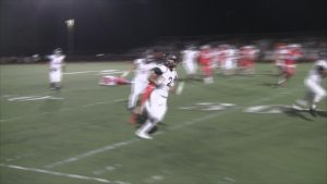 Blake Thomas on the move after an INT