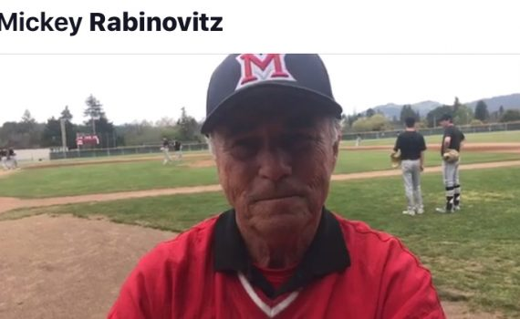 Mickey Rabinovitz speaks just before the tourney championship game: